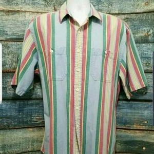 Polo Ralph Lauren Shirt Size L Striped 100% Cotton